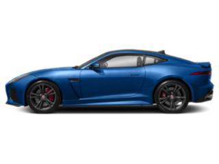 Ultra Blue Metallic 2018 Jaguar F-TYPE Pictures F-TYPE Coupe Auto SVR AWD photos side view