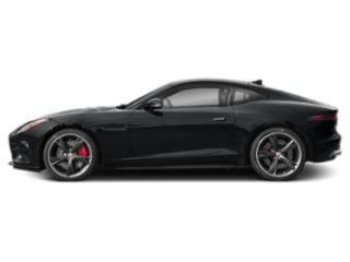 Santorini Black Metallic 2018 Jaguar F-TYPE Pictures F-TYPE Coupe Auto R AWD photos side view
