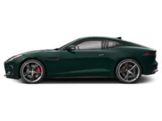 British Racing Green Metallic 2018 Jaguar F-TYPE Pictures F-TYPE Coupe 2D R-Dynamic AWD photos side view