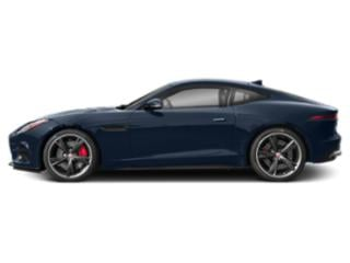 Loire Blue Metallic 2018 Jaguar F-TYPE Pictures F-TYPE Coupe Auto R AWD photos side view