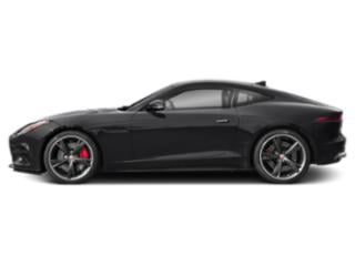 Carpathian Grey 2018 Jaguar F-TYPE Pictures F-TYPE Coupe Auto R AWD photos side view