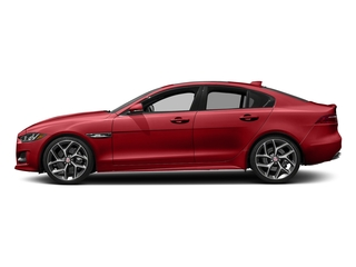 Caldera Red 2018 Jaguar XE Pictures XE 25t R-Sport AWD photos side view