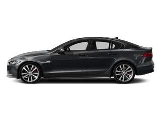 Santorini Black 2018 Jaguar XE Pictures XE Sedan 4D S AWD photos side view