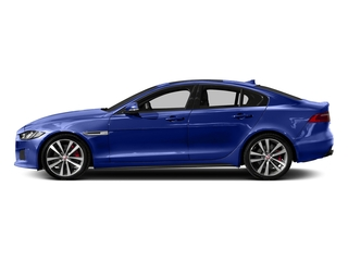 Caesium Blue 2018 Jaguar XE Pictures XE Sedan 4D S AWD photos side view