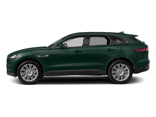 British Racing Green Metallic 2018 Jaguar F-PACE Pictures F-PACE 20d Premium AWD photos side view