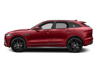 Firenze Red Metallic 2018 Jaguar F-PACE Pictures F-PACE Utility 4D 20d R-Sport AWD photos side view