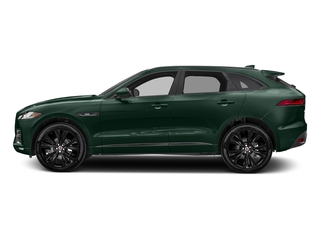 British Racing Green Metallic 2018 Jaguar F-PACE Pictures F-PACE 20d R-Sport AWD photos side view