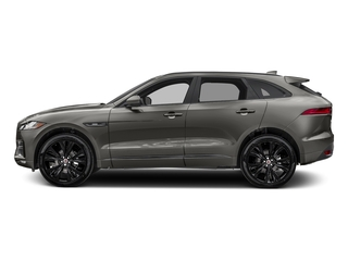 Silicon Silver 2018 Jaguar F-PACE Pictures F-PACE 20d R-Sport AWD photos side view