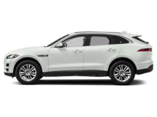 Fuji White 2018 Jaguar F-PACE Pictures F-PACE Utility 4D 25t Premium AWD photos side view
