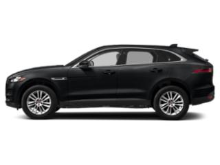 Santorini Black Metallic 2018 Jaguar F-PACE Pictures F-PACE Utility 4D 25t Premium AWD photos side view