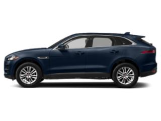 Loire Blue Metallic 2018 Jaguar F-PACE Pictures F-PACE Utility 4D 25t Premium AWD photos side view