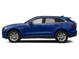 Caesium Blue Metallic 2018 Jaguar F-PACE Pictures F-PACE Utility 4D 25t Premium AWD photos side view