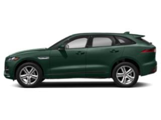 British Racing Green Metallic 2018 Jaguar F-PACE Pictures F-PACE Utility 4D 25t R-Sport AWD photos side view