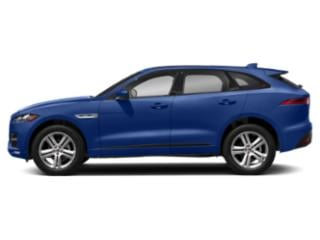 Caesium Blue Metallic 2018 Jaguar F-PACE Pictures F-PACE 25t R-Sport AWD photos side view