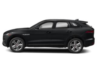 Santorini Black Metallic 2018 Jaguar F-PACE Pictures F-PACE 35t R-Sport AWD photos side view