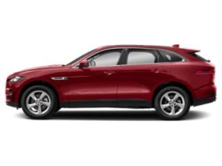 Firenze Red Metallic 2018 Jaguar F-PACE Pictures F-PACE 30t Prestige AWD photos side view