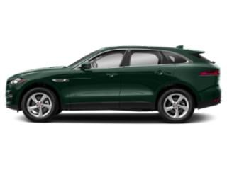 British Racing Green Metallic 2018 Jaguar F-PACE Pictures F-PACE 30t Prestige AWD photos side view