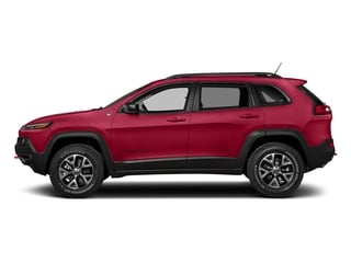 Firecracker Red Clearcoat 2018 Jeep Cherokee Pictures Cherokee Utility 4D Trailhawk 4WD photos side view