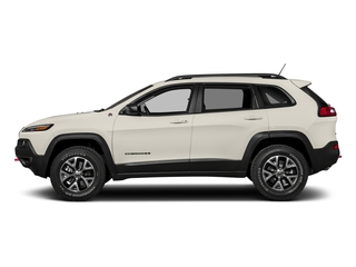 Pearl White Clearcoat 2018 Jeep Cherokee Pictures Cherokee Utility 4D Trailhawk 4WD photos side view