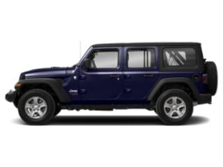 Ocean Blue Metallic Clearcoat 2018 Jeep Wrangler Unlimited Pictures Wrangler Unlimited Utility 4D Sport 4WD V6 photos side view