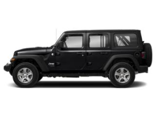 Black Clearcoat 2018 Jeep Wrangler Unlimited Pictures Wrangler Unlimited Utility 4D Sport 4WD V6 photos side view