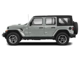 Bright White Clearcoat 2018 Jeep Wrangler Unlimited Pictures Wrangler Unlimited Utility 4D Sahara 4WD V6 photos side view