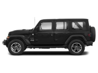 Black Clearcoat 2018 Jeep Wrangler Unlimited Pictures Wrangler Unlimited Utility 4D Sahara 4WD V6 photos side view