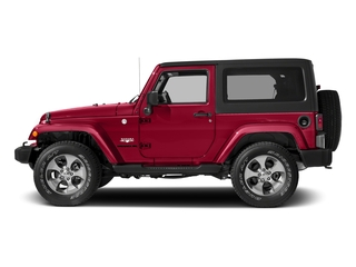 Firecracker Red Clearcoat 2018 Jeep Wrangler JK Pictures Wrangler JK Utility 2D Sahara 4WD photos side view