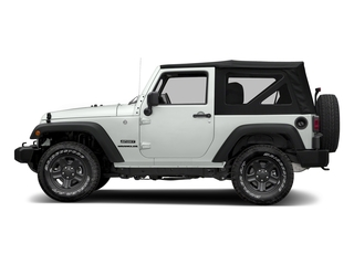 Bright White Clearcoat 2018 Jeep Wrangler JK Pictures Wrangler JK Utility 2D Sport 4WD photos side view