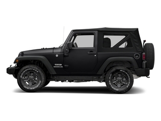 Black Clearcoat 2018 Jeep Wrangler JK Pictures Wrangler JK Utility 2D Sport 4WD photos side view