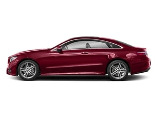 designo Cardinal Red Metallic 2018 Mercedes-Benz E-Class Pictures E-Class E 400 4MATIC Coupe photos side view