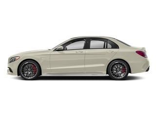 designo Diamond White Metallic 2018 Mercedes-Benz C-Class Pictures C-Class AMG C 63 S Sedan photos side view