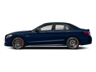 Brilliant Blue Metallic 2018 Mercedes-Benz C-Class Pictures C-Class AMG C 63 S Sedan photos side view