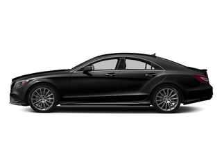 Obsidian Black Metallic 2018 Mercedes-Benz CLS Pictures CLS CLS 550 4MATIC Coupe photos side view