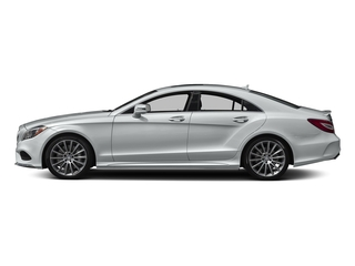 Iridium Silver Metallic 2018 Mercedes-Benz CLS Pictures CLS CLS 550 4MATIC Coupe photos side view