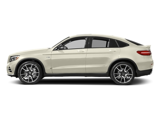 designo Diamond White Metallic 2018 Mercedes-Benz GLC Pictures GLC AMG GLC 43 4MATIC Coupe photos side view