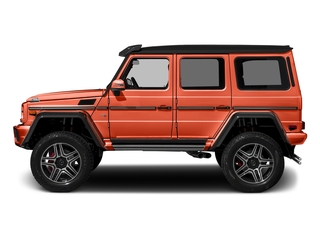 designo Manufaktur Orange Metallic 2018 Mercedes-Benz G-Class Pictures G-Class G 550 4x4 Squared SUV photos side view