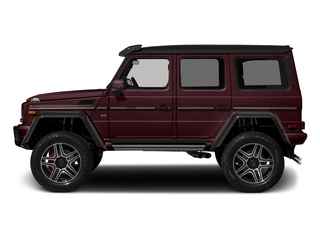 designo Mystic Red Metallic 2018 Mercedes-Benz G-Class Pictures G-Class G 550 4x4 Squared SUV photos side view