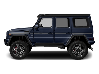 designo Manufaktur Midnight Blue 2018 Mercedes-Benz G-Class Pictures G-Class G 550 4x4 Squared SUV photos side view