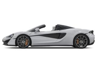 Silica White 2018 McLaren 570S Pictures 570S Spider photos side view