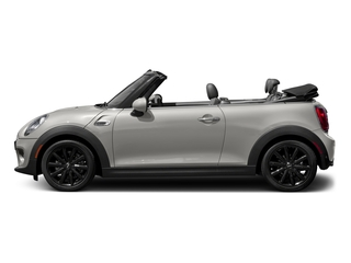 White Silver Metallic 2018 MINI Convertible Pictures Convertible Cooper FWD photos side view