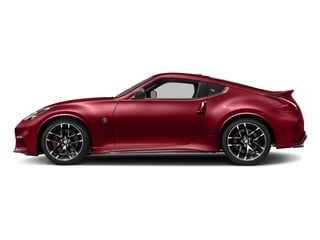 Solid Red 2018 Nissan 370Z Coupe Pictures 370Z Coupe 2D NISMO Tech V6 photos side view