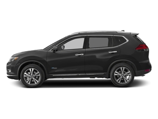 Gun Metallic 2018 Nissan Rogue Pictures Rogue FWD SL Hybrid photos side view