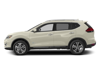Pearl White 2018 Nissan Rogue Pictures Rogue FWD SL Hybrid photos side view