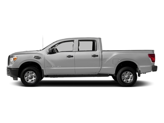 Brilliant Silver 2018 Nissan Titan XD Pictures Titan XD 4x2 Diesel Crew Cab S photos side view