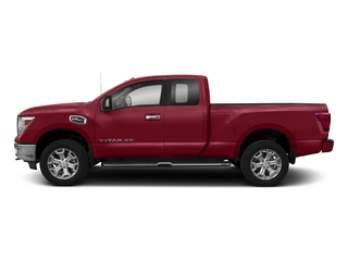 Cayenne Red 2018 Nissan Titan XD Pictures Titan XD 4x4 Gas King Cab PRO-4X photos side view