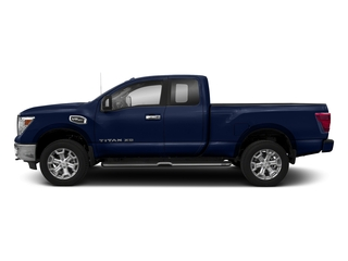 Deep Blue Pearl 2018 Nissan Titan XD Pictures Titan XD 4x4 Gas King Cab PRO-4X photos side view