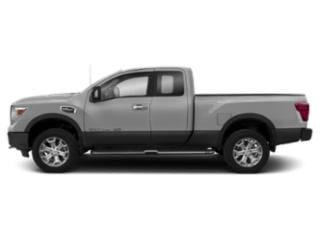 Brilliant Silver 2018 Nissan Titan XD Pictures Titan XD 4x4 Gas King Cab PRO-4X photos side view