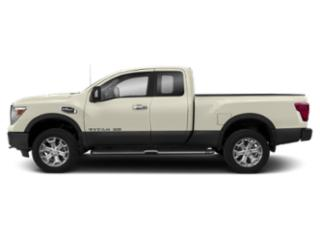Pearl White 2018 Nissan Titan XD Pictures Titan XD 4x4 Gas King Cab PRO-4X photos side view