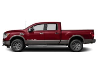 Cayenne Red 2018 Nissan Titan XD Pictures Titan XD Crew Cab Platinum Reserve 2WD photos side view